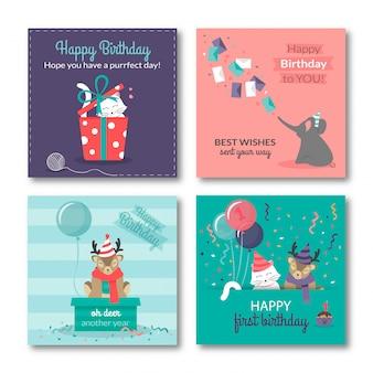 Cartes de joyeux anniversaire