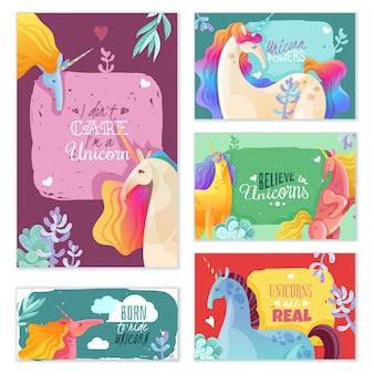 Cartes magiques de licorne
