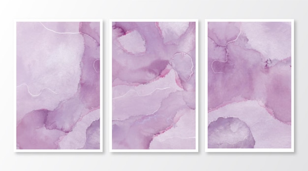 Cartes de marbre aquarelle abstraite
