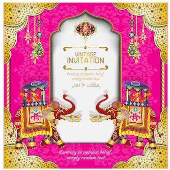 Cartes de mariage indien