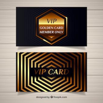 Cartes de membres vip modernes