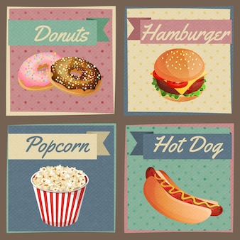 Cartes de menu fast food