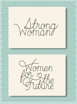 Cartes avec message féministe fait à la main