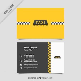 Cartes minimaliste pour un service de taxi