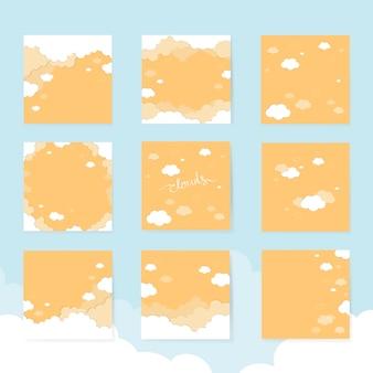 Cartes avec des nuages