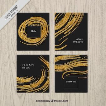 Cartes de paillettes, de couleur noire