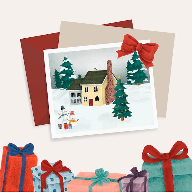 Cartes postales et cadeaux de noël
