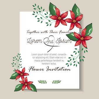 Cartes postales florales flyers style vintage