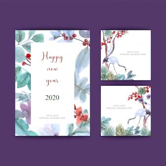 Cartes postales pour le nouvel an
