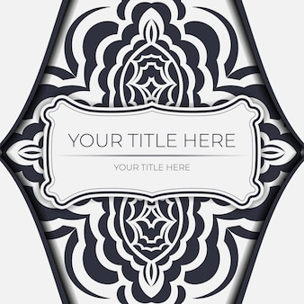 Cartes postales vectorielles de couleur claire avec ornement abstrait. conception de cartes d'invitation avec des motifs de mandala.