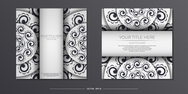 Cartes postales vectorielles vintage de couleur claire avec des motifs abstraits. conception de carte d'invitation avec ornement de mandala.