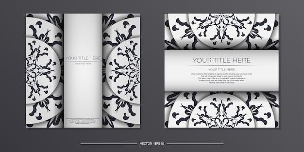 Cartes postales vintage de couleur claire avec des motifs abstraits. conception de carte d'invitation avec ornement de mandala.