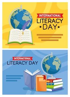 Cartes pour la journée d'alphabétisation
