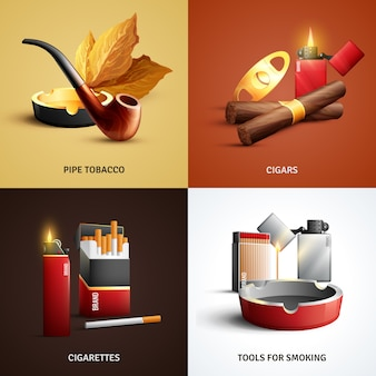 Cartes de produits du tabac