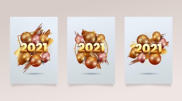 Cartes réalistes du nouvel an 2021