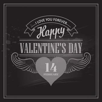 Cartes de saint valentin de typographie.