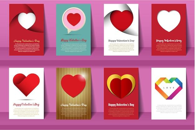Cartes de la saint-valentin.