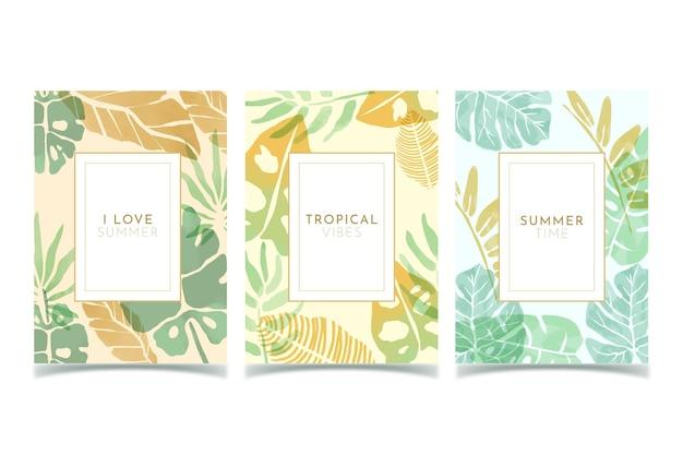 Cartes tropicales abstraites