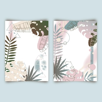 Cartes tropicales abstraites