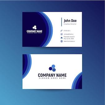 Cartes de visite bleu foncé
