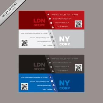 Cartes de visite de conception de modèle