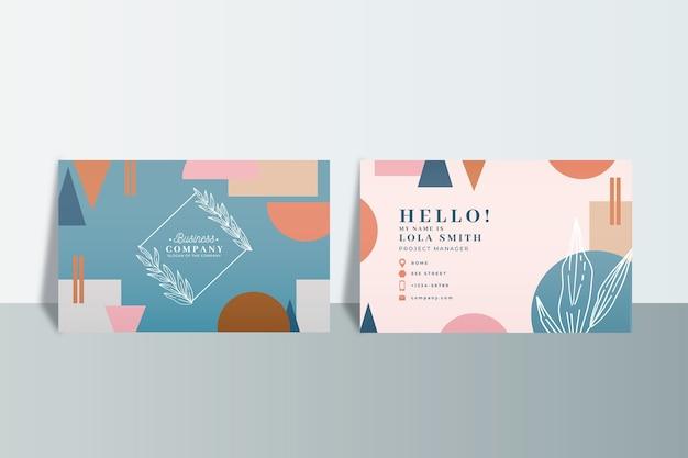 Cartes de visite d'entreprise abstraites