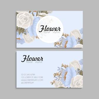 Cartes de visite fleur fleurs pastel