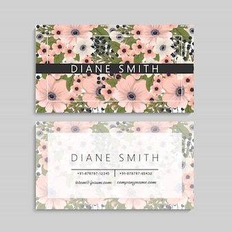 Cartes de visite fleur fleurs roses