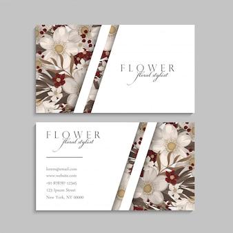Cartes de visite fleur fleurs rouges