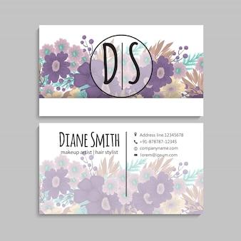 Cartes de visite fleur fleurs violettes
