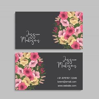 Cartes de visite fleur