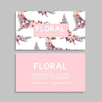 Cartes de visite fleurs rose