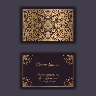 Cartes de visite florales ornementales. éléments décoratifs vintage
