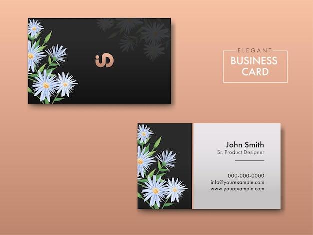 Cartes de visite florales