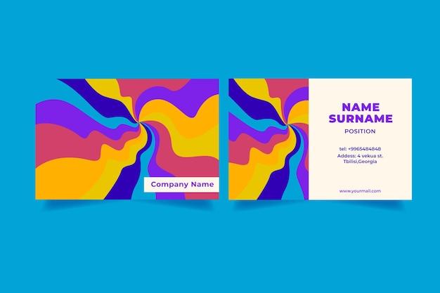 Cartes de visite groovy dessinées à la main