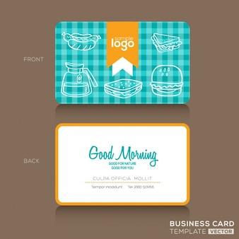 Cartes de visite modèle de conception pour boulangerie ou un café