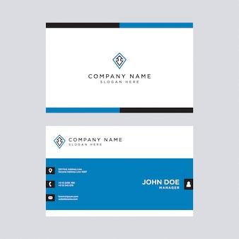 Cartes de visite professionnelles bleues modernes, modèle