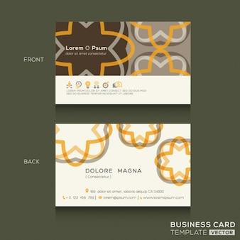 Cartes de visite rétro modèle de conception