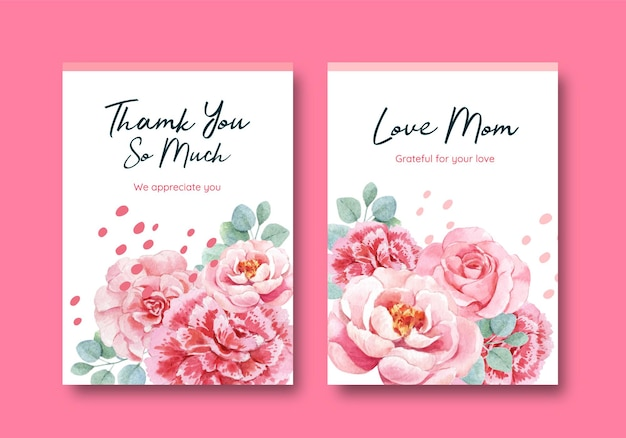 Cartes de voeux de bonne fête des mères