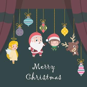 Cartes de vœux avec divers personnages