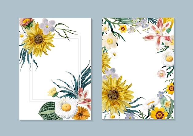 Cartes de vœux florales