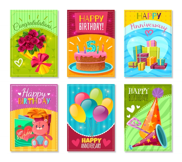 Cartes de voeux joyeux anniversaire