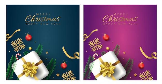 Cartes de voeux joyeux noël et bonne année
