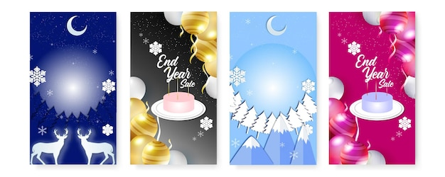 Cartes de voeux joyeux noël. modèles d'art de vacances d'hiver carré abstrait à la mode.