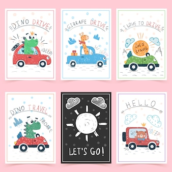 Cartes de voeux mignonnes pour les enfants
