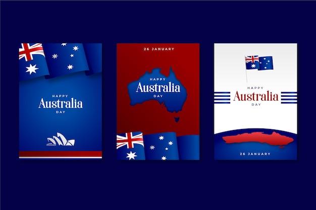 Cartes de voeux pour la fête de l'australie