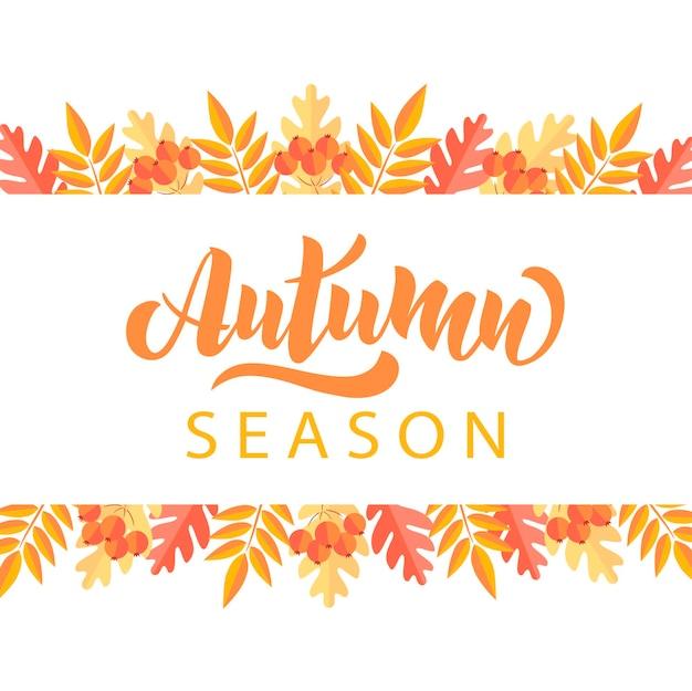 Cartes de voeux pour la saison d'automne parfaites pour les impressions, les dépliants, les bannières, les invitations, les promotions et plus encore