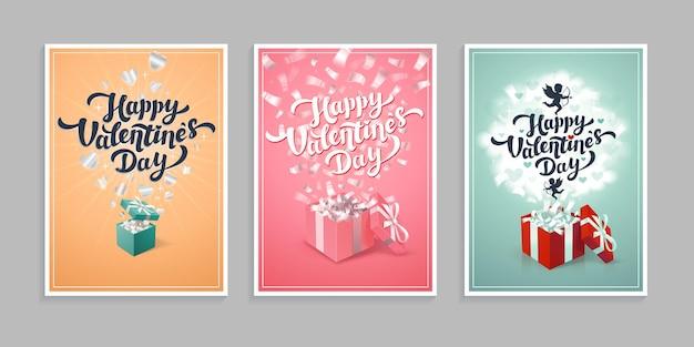 Cartes de voeux de la saint-valentin