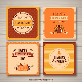 Cartes de voeux de thanksgiving