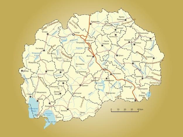 Cartographie de macédoine
